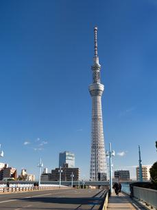 言問橋から見た東京スカイツリーの写真素材 [FYI03824803]