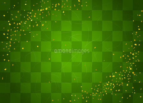 和紙テクスチャと市松模様 金粉のイラスト素材 [FYI03825209]
