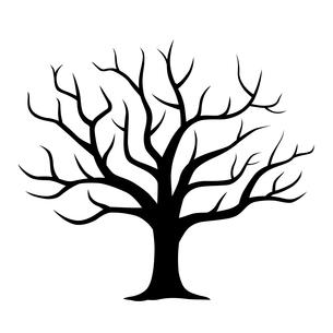 葉の散った木のイラストのイラスト素材 [FYI03825271]