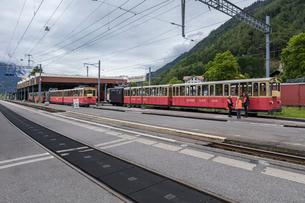 スイスの登山鉄道、シーニゲ・プラッテ鉄道の写真素材 [FYI03825434]