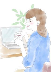 働く女性のイラスト素材 [FYI03826635]
