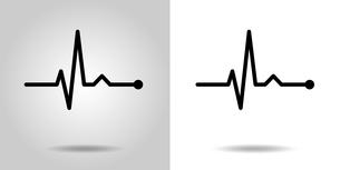 心電図のリズムイラストのイラスト素材 [FYI03826653]