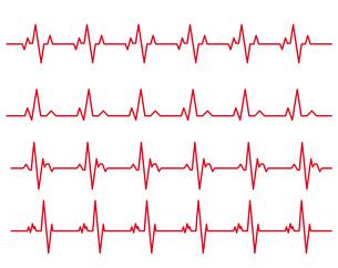 心電図のイラストセットのイラスト素材 [FYI03826659]