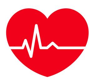 心電図のリズムとハートのイラストのイラスト素材 [FYI03826671]