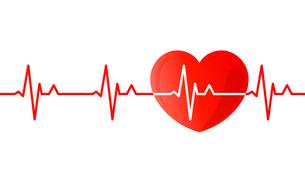 心電図のリズムとハートのイラストのイラスト素材 [FYI03826680]