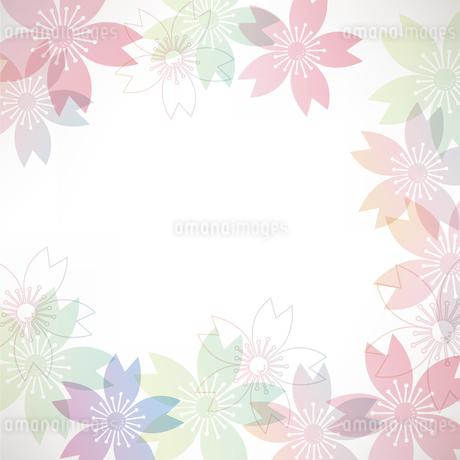 桜 背景のイラスト素材 [FYI03826686]