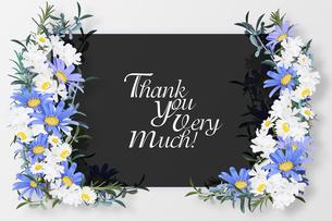 美しい花のボタニカルフレームのイラスト素材 [FYI03826779]