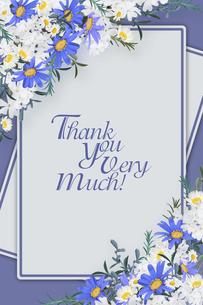 美しい花のボタニカルフレームのイラスト素材 [FYI03826782]