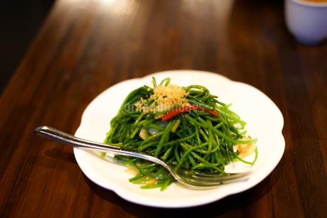 台湾の青菜炒めイメージの写真素材 [FYI03827056]
