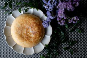 バスクチーズケーキ ハンドメイドの写真素材 [FYI03827138]