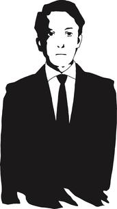 スーツの男性のイラスト素材 [FYI03827257]