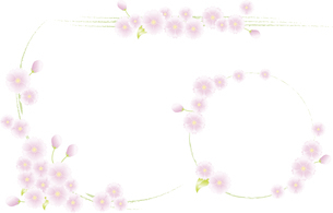 飾り罫(春)のイラスト素材 [FYI03827274]