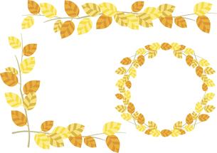 飾り罫(秋)のイラスト素材 [FYI03827276]