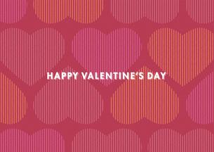 バレンタインデー用のハートの背景イメージ(横)のイラスト素材 [FYI03827538]