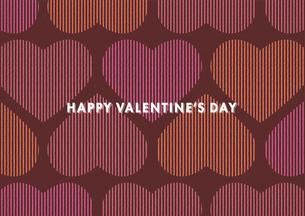 バレンタインデー用のハートの背景イメージ(横)のイラスト素材 [FYI03827539]
