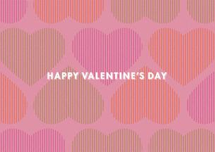バレンタインデー用のハートの背景イメージ(横)のイラスト素材 [FYI03827540]