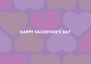 バレンタインデー用のハートの背景イメージ(横)のイラスト素材 [FYI03827541]