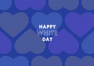 ホワイトデー用のハートの背景イメージ(横)のイラスト素材 [FYI03827542]