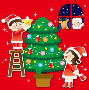 クリスマスのイラスト素材 [FYI03827572]