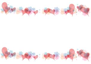 ハートとお花のフレームのイラスト素材 [FYI03827635]