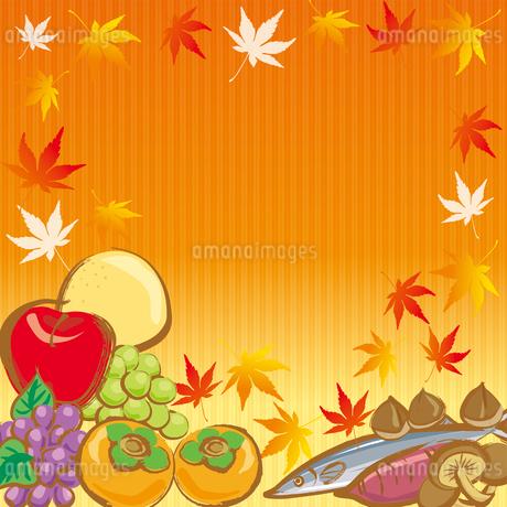 秋の味覚のイラスト素材 [FYI03827787]
