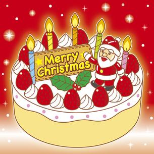 クリスマスケーキのイラスト素材 [FYI03827791]