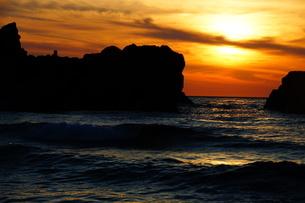 三瀬の夕日の写真素材 [FYI03827814]