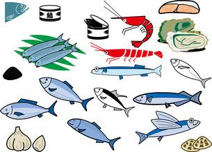 魚貝のイラスト素材 [FYI03827892]