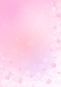 桜のイラストの背景イメージ(縦)のイラスト素材 [FYI03828271]