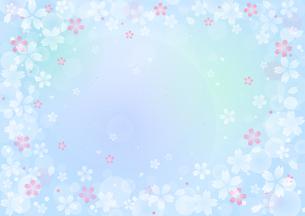 桜のイラストの背景イメージ(横:全体)のイラスト素材 [FYI03828276]
