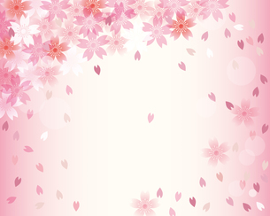桜 春 背景のイラスト素材 [FYI03829155]