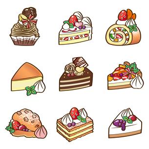 カットケーキ セットのイラスト素材 [FYI03829165]