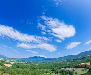 北海道 自然 風景 田園風景と青空 の写真素材 [FYI03829450]