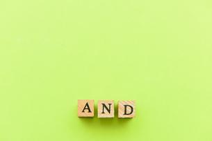 アルファベット テキスト 文字 英字 単語 スタンプ 緑の写真素材 [FYI03830267]