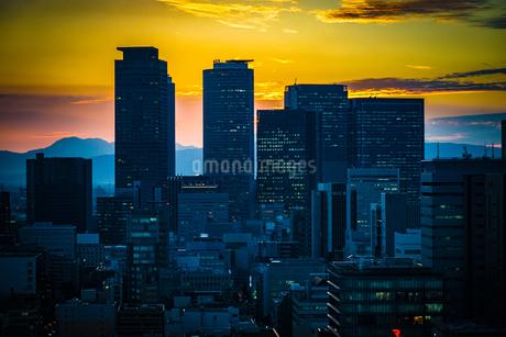 名古屋テレビ塔と夕景の写真素材 [FYI03830845]