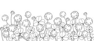 シロツメクサ線画のイラスト素材 [FYI03831091]