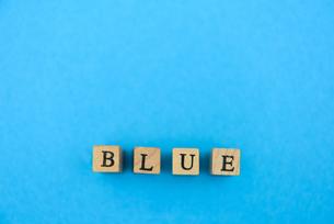 アルファベット テキスト 文字 英字 単語 スタンプ 青の写真素材 [FYI03831169]
