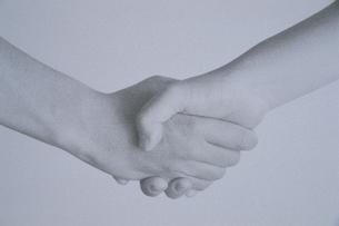 中学生の手の握手 BWの写真素材 [FYI03832792]