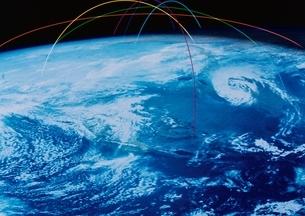 地球と光線 CGの写真素材 [FYI03833556]