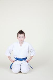 柔道をする外人の子どもの写真素材 [FYI03833602]
