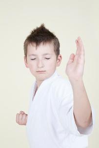 柔道をする外人の子どもの写真素材 [FYI03833604]