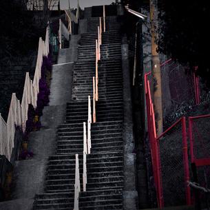 坂道の階段の写真素材 [FYI03834441]