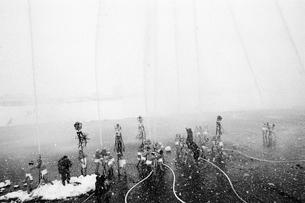 雪の出初式の写真素材 [FYI03834461]