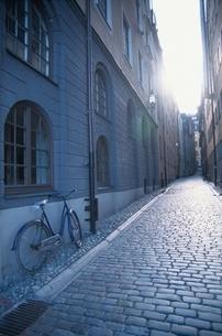 石畳の小道  ストックホルム スウェーデンの写真素材 [FYI03835119]