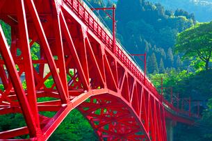 黒部渓谷鉄道 トロッコ列車の写真素材 [FYI03835716]