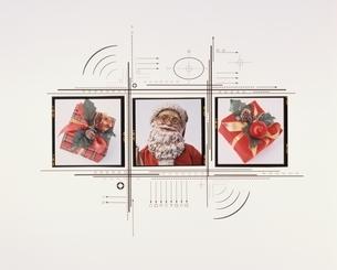 サンタクロースとプレゼントの写真素材 [FYI03836660]