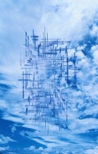 青雲と雲のイラスト素材 [FYI03836760]