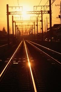 線路と送電線の写真素材 [FYI03836865]