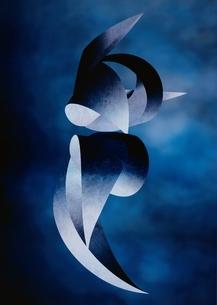 アブストラクト(青)のイラスト素材 [FYI03838733]