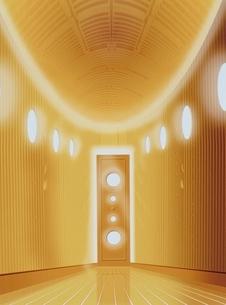 光があたっている金色のドア CGの写真素材 [FYI03838734]